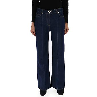 Valentino Rb3dd08a4bd0x0 Women's Blue Cotton Jeans