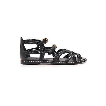 See By Chloé Sb32090a09110 Women's Black Leather Sandals