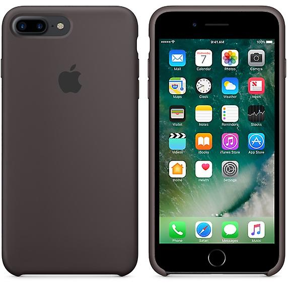 In its original packaging Apple MMT12 silicone Micro Fiber cover case for iPhone 8 + plus / 7 + - cocoa Brown