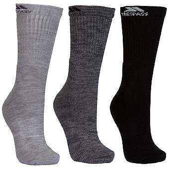 Trespass Mens Jackbarrow Mid Length 3 Pack Walking Socks