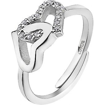 Ring Silver MOMENTS Lotus LP1594-3-1 - ring MOMENTS money heart woman
