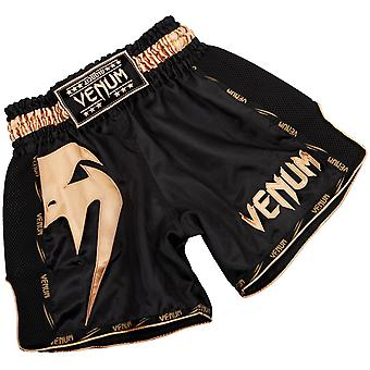 Venum Mens Giant Muay Thai Shorts - Black/Gold