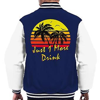 Just 1 More Drink Vintage Sun Men's Varsity Jacket