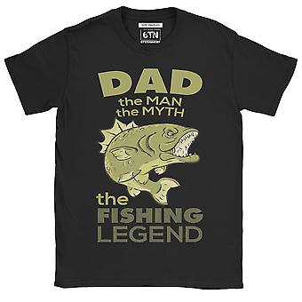 Dad the man, the myth, the fishing legend funny t shirt fisherman angler