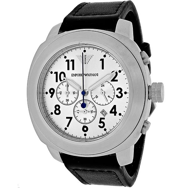 Emporio Armani Ar6054 Black Leather Men's Delta Quartz Watch
