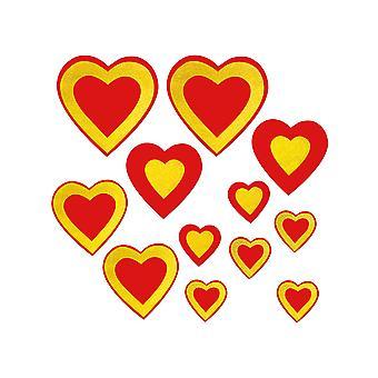 Glittrade hjärta cutouts Asstd