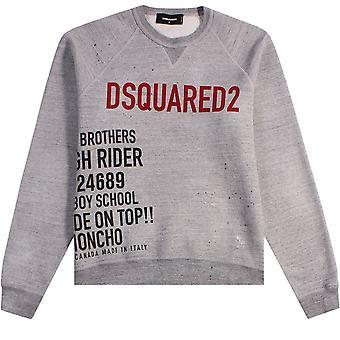 Dsquared2 Logo Printed Sweatshirt Grey