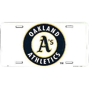 Oakland Athletics MLB License Plate