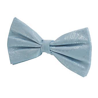 Dobell Mens Light Blue Paisley Bow Tie Pre-Tied