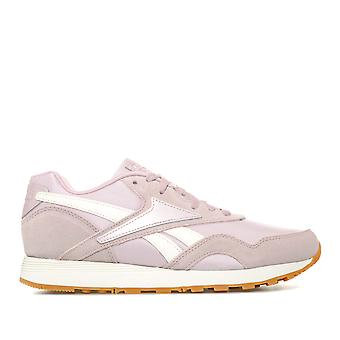 Womens Reebok Classics Rapide Trainers In Ashen Lilac / Chalk
