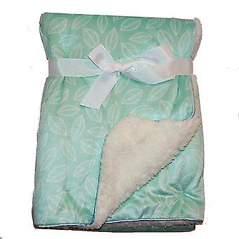 ورقة خضراء مينك شيربا الصوف اصطف بطانية الطفل