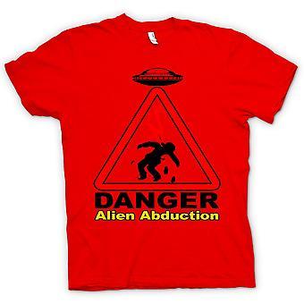 Mens T-shirt-Gefahr ausländische Abduktion - UFO - lustig