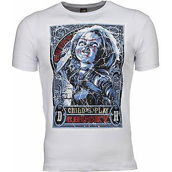 Camiseta-Chucky Cartel Impresión-Blanco