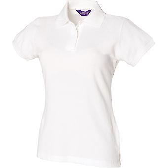 Henbury - Women's Ladies Stretch Piqué Polo Shirt