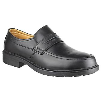 Amblers Safety Mens FS46 Mocc Toe S1P SRC Safety Slip On Shoe Black
