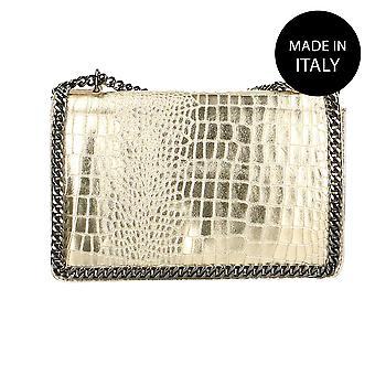 Läder pochettemades gjort i Italien 80066