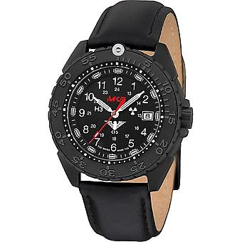 KHS Wristwatch الرجال المنفذ الأسود تيتان CR مع حزام الجلود - KHS. ENFBTCR. ل