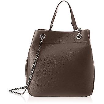 Chicca Bags 8857 Brown Women's shoulder bag (Dark Brown) 31x30x15 cm (W x H x L)