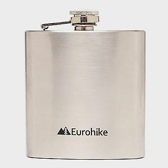 New Eurohike Stainless Steel 0.6Oz Hip Flask Hydration Silver