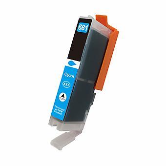 Premium cyan kompatibel Inkjet-kassett for CLI 681CXL