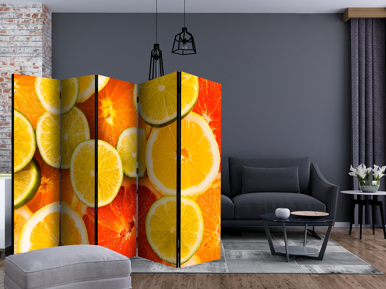 Paravent 5 volets - Citrus fruits [Room Dividers]