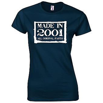 18th Birthday Gifts for Women Her Made In 2001 T-Shirt