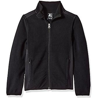Starter Girls' Polar Fleece Jacket,  Exclusive, Black, XL (14/16)