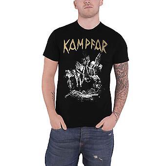 Kampfar T Shirt Death Band Logo neue offizielle Herren Schwarz