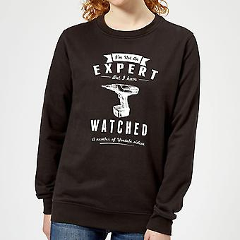 Im not an Expert Women's Sweatshirt - Black
