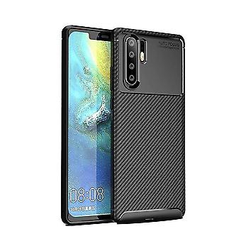 Huawei P30 Pro Case Carbon Inlay Back Shell Black