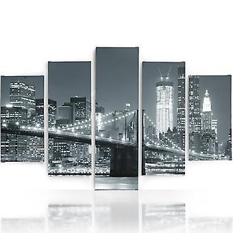 Immagine a cinque parti su tela, Pentaptych, Tipo A, Ponte
