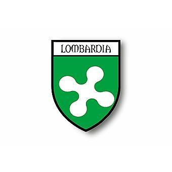 Sticker sticker motorfiets auto jas van de stad vlag Italiaans Lombardia