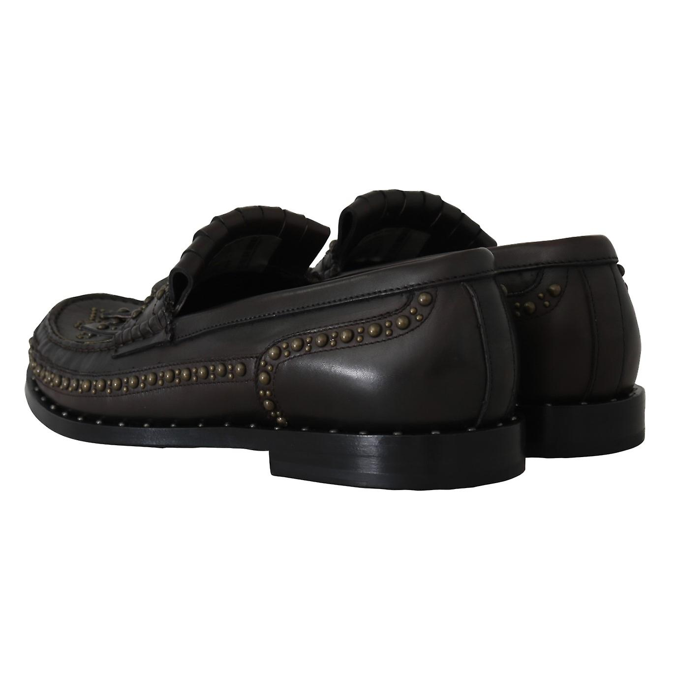 Brown Leather Loafers Moccasins Shoes