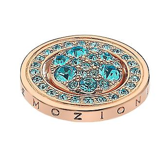 Emozioni Autunno E Inverno Rose Gold Plated 25mm Purity & Tranquillity Coin EC412