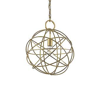 Ideal Lux Konse 1 licht sferische hanger licht goud IDL155968