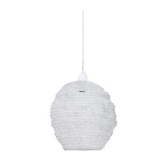 Luz e vida suspensão pendente lâmpada D38x42cm Nina Wire branco