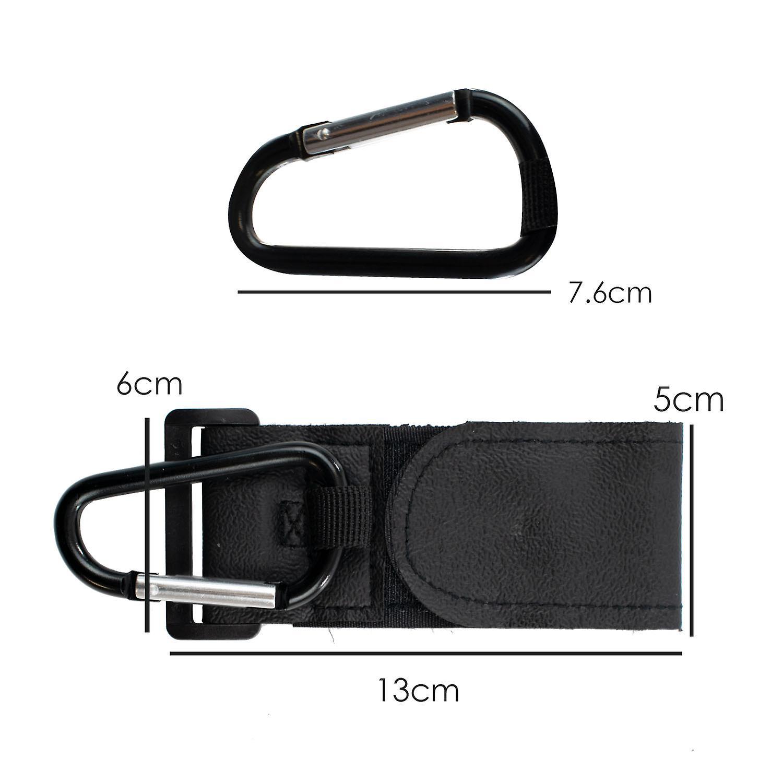 TRIXES Pack of 2 Pushchair  Buggy Pram Clip Adjustable Fit – Colour Black