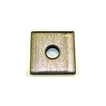 Single Hole Plate / Washer T316 Stainless Steel 50x50x3 Mm - 10 Mm Hole