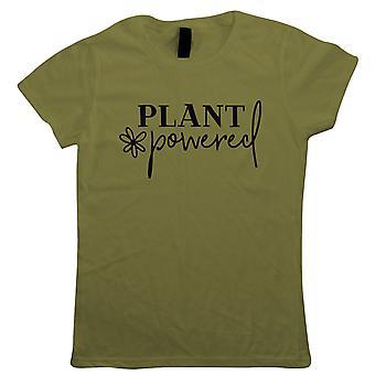 Kasvien powered, naisten T-paita-Vegaani lahja hänen äitinsä