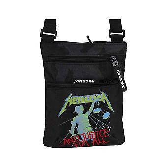 Metallica Crossbody Bag And Justice For All Band Logo nouveau noir officiel
