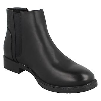 Spot On Womens/Ladies Snake Back Ankle Boots