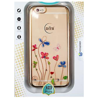 Hull For iPhone 6 / 6s Transparent Flowers Hearts And Strass