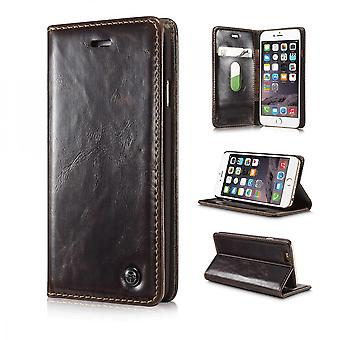 Case For iPhone 6 / 6s Brown Wallet