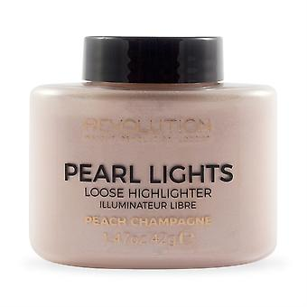 Makeup Revolution Pearl Lights Loose Highlighter-Peach Champagne