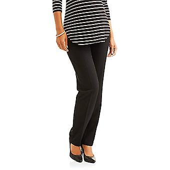 Times Two Maternity Women's Straight Leg Dress Pants (1X,, Black, Size 1.0