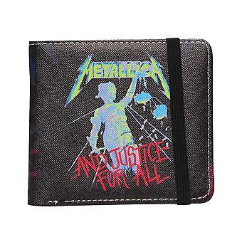 Cartera Metallica y Justicia para Todas las Bandas Logo nuevo Bifold Negro Oficial