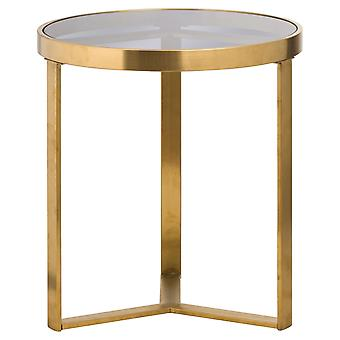 Hill Interiors The Edwin Stainless Round Side Table In Brushed Brass