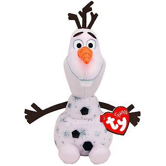 TY Disney Frozen 2 Olaf Medium Beanie With Sound