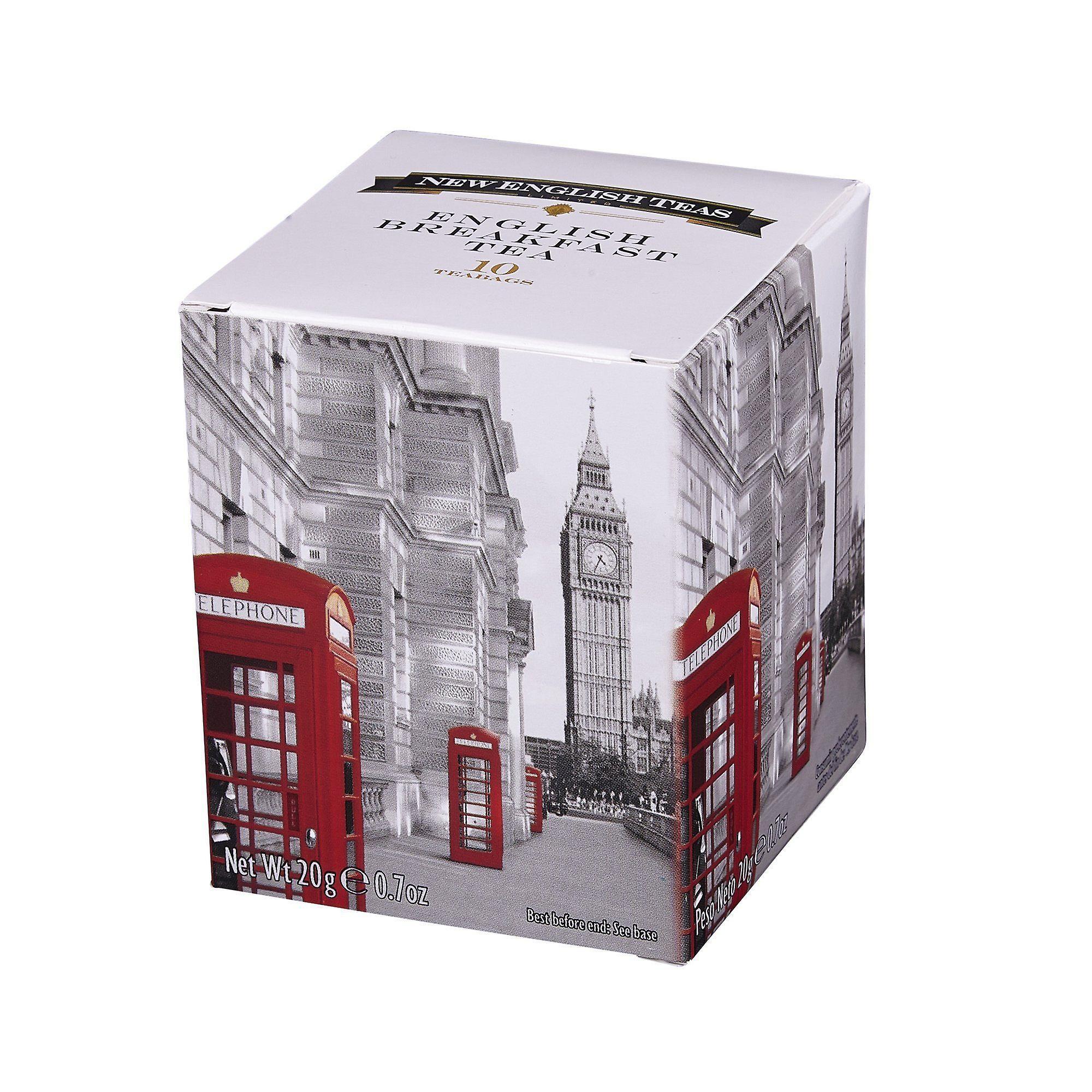 Red telephone box english breakfast tea 10 teabag carton