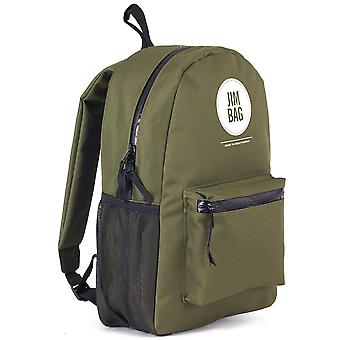 JIMBAG Green Backpack Travel Outdoor Waterproof Backpack Bag, Laptop Compartment